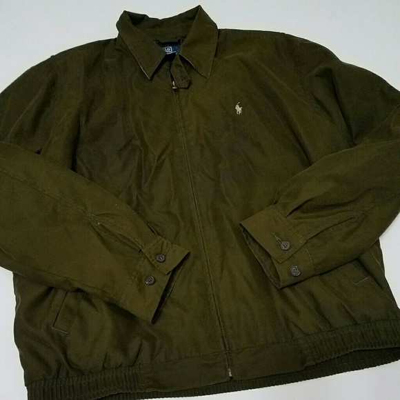 4cd4c8d7c M Olive Green Polo Bomber Jacket